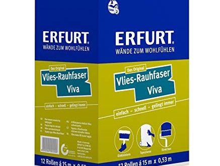 1 Karton mit 12 Rollen Erfurt Rauhfaser Raufaser Vlies VIVA 437x330 - 1 Karton mit 12 Rollen Erfurt Rauhfaser Raufaser Vlies VIVA 95,4m²