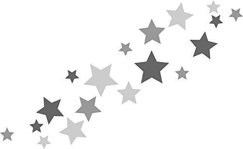 30 Stueck selbstklebende Sterne Autoaufkleber Tueraufkleber Fahrradaufkleber Wandtattoo tricolore grau anthrazit - 30 Stück selbstklebende Sterne Autoaufkleber, Türaufkleber, Fahrradaufkleber, Wandtattoo tricolore-grau, anthrazit, Fensterdekoration Fensterbild/Fensteraufkleber für In- und Outdoor 62s1