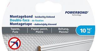 tesa Montageband fuer Tapeten und Putz 5m x 19mm 310x165 - tesa Montageband für Tapeten und Putz, 5m x 19mm