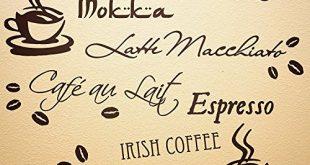 WANDfee Wandtattoo Kueche Kaffee Spruch Kaffeetasse Kaffeebohnen Wandsticker Coffee Cafe 310x165 - WANDfee Wandtattoo Küche Kaffee Spruch Kaffeetasse Kaffeebohnen Wandsticker Coffee Cafe Wandaufkleber Dunkelbraun